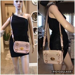 Authentic miu miu shoulder bag pinks leather